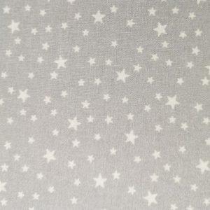 Tela de estrellas grises sobre blanco (1,50)