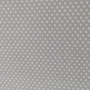 Tela de estrellas blancas sobre gris (1,50)