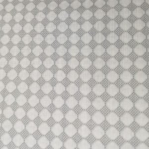 Tela con círculos grises sobre blanco(Ancho 1,50)