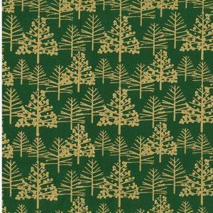 Tela de hojas de acebo plateadas sobre blanco