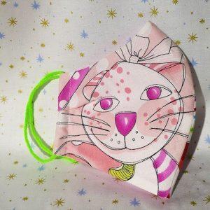 Mascarilla de gatitos multicolores (Niño 14 cm)