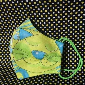 Mascarilla de gatito en lilas (Niño 14 cm)