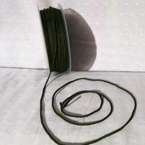 Cordón tubular elástico azulón para mascarillas