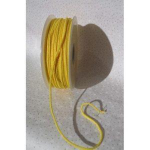 Rollo de cordón tubular elástico verde prado para mascarillas