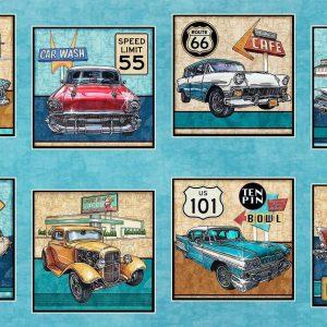Panel de coches quilting treasures