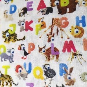Tela de abecedario con animales