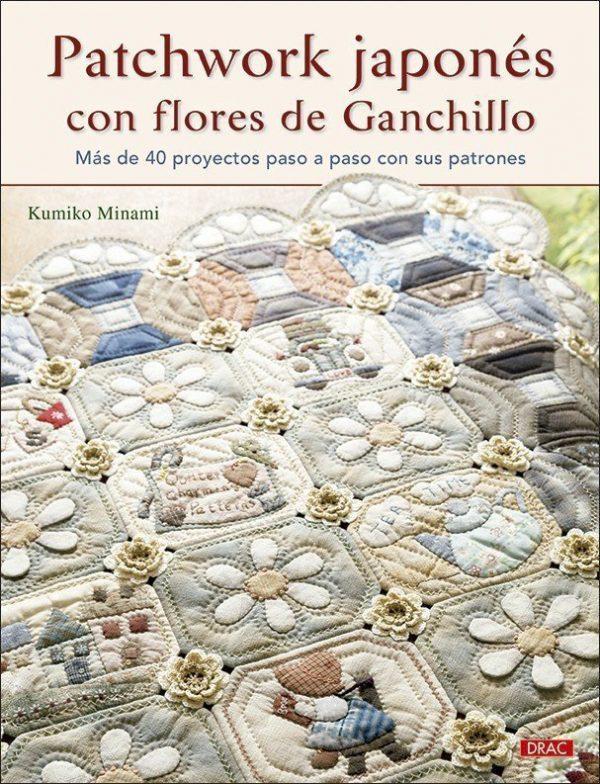 Patchwork japonés con flores de ganchillo.Kumiko Minami