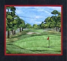 Patrón de paper piecing con el tema. Golf anyone?.