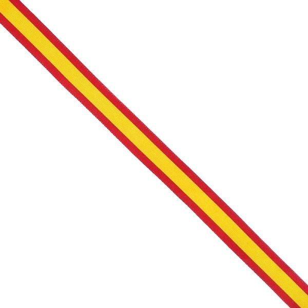 Rollo de cinta de la bandera de España de 12mm (25 metros)