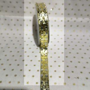 Rollo de cinta dorada con brillantina de 10mm