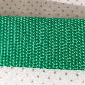 Cinta de mochila verde pradera de 30mm