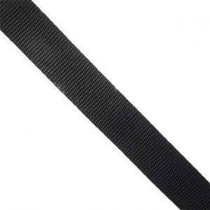 Cinta de mochila negro de 30mm