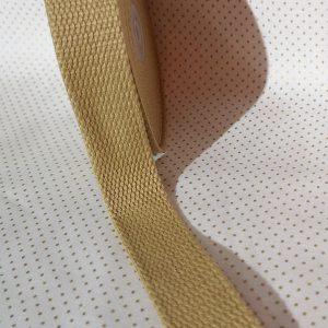 Cinta de mochila color beige de algodón 20 mm
