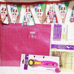 Pack de 4 tijeras de kai. Costura, patchwork, bordar, aplicación