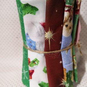 Pack de restos de telas de halloween con calabazas telarañas etc (Unos 30 cm aprox.)