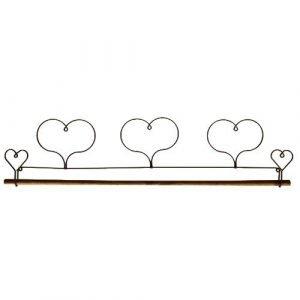 Percha de corazón decorativa 38,10cm