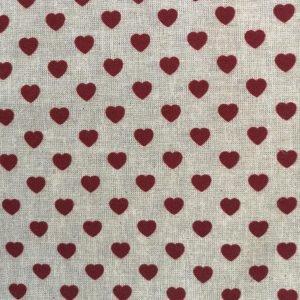Tela de corazones blancos sobre claro (1,50)