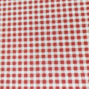 Tela de cuadritos vichy rojos