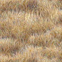Tela de hierbas secas marrones de Quilting treasures