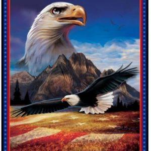 Panel de águila americana de quilting treasures