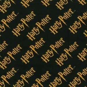 Tela de motivos de Harry Potter sobre claro
