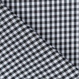 Tela de cuadros vichy negros y blancos de 1 cm (1,50)