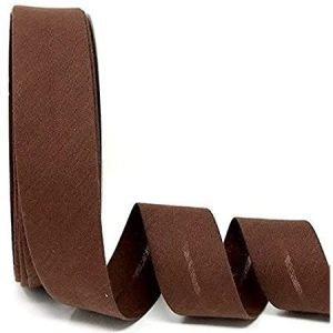 Cinta de bies marrón chocolate de 18 mm