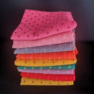 Paquete de 7 telas japonesas en colores vivos