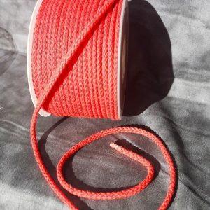 Cordón de de mochila color rojo de algodón 5 mm