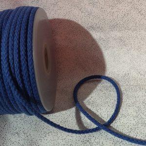 Cordón de mochila color azulón de algodón 5 mm