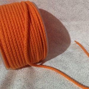 Cordón de mochila color naranja de algodón 5 mm