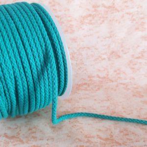 Cordón de mochila verde de algodón 5 mm