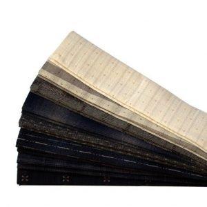 Set de 8 telas marrones y beiges precortadas japonesas