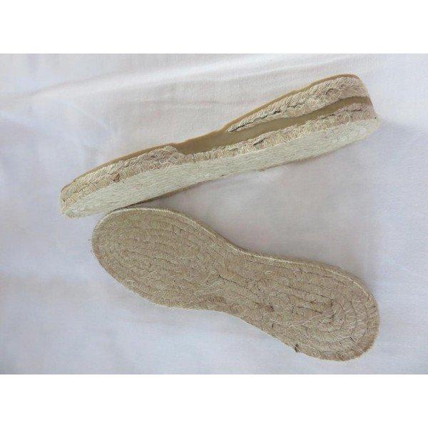 Suelas de alpargatas de cuña de 3 cm nº 35