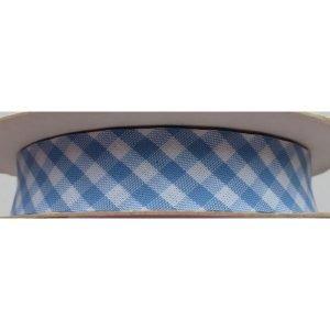 Cinta de bies de cuadros azules de 18mm (cuadritos 4mm)
