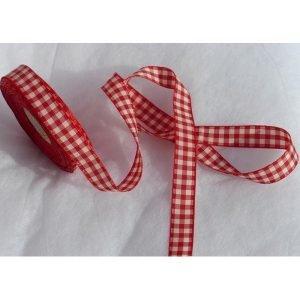 Cintas de cuadros rojos (ancho 2cm)
