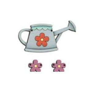Botones de regadera y flores