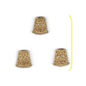 Botones de dedales dorado