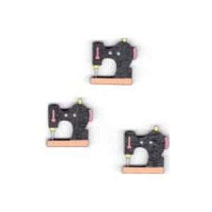 3 Maquinas de coser en negro