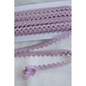 Puntilla lila de algodón de 1cm