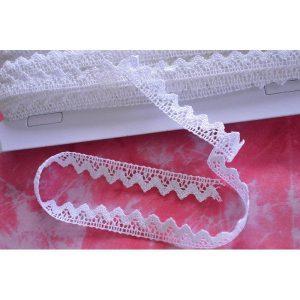 Puntilla blanca de algodón de 1cm