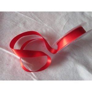Lazo de raso rojo 16mm