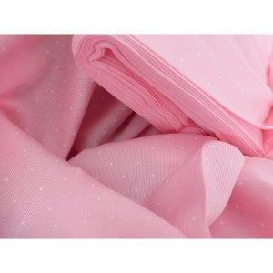 Pique de canutillo en rosa con lunares blancos