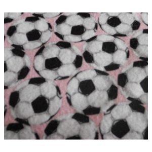 Tela con balones de fútbol en franela