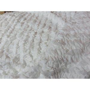 Tela para blusa con rizo color blanco