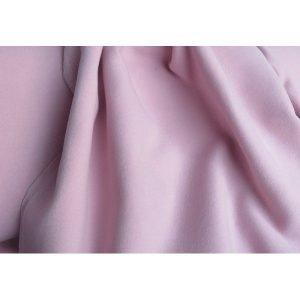 Tela de mouflón de color rosa palo