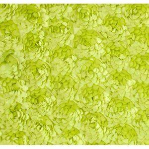 Tela de rosas en verde pistacho