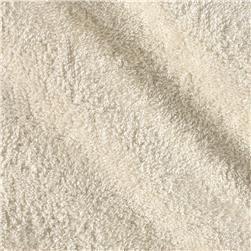 Tela de rizo o felpa color marfil ( 1,50 cm)
