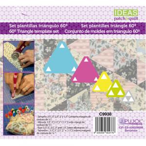 Set 5 plantillas de triangulos de metacrilato