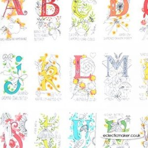 Panel de abecedario en 27 motivos